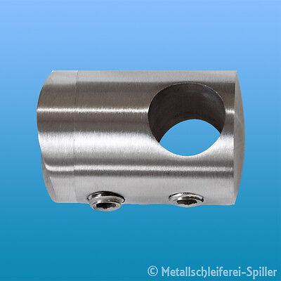 Edelstahl Querstabhalter 10-16 mm Traversenhalter Geländer Handlauf Stabhalter