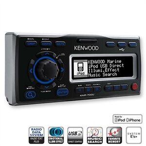 Kenwood-KMR-700U-Marine-Radio-iPhone-4-4S-iPod-USB-Receiver-fuer-Boot-Boat-Yacht