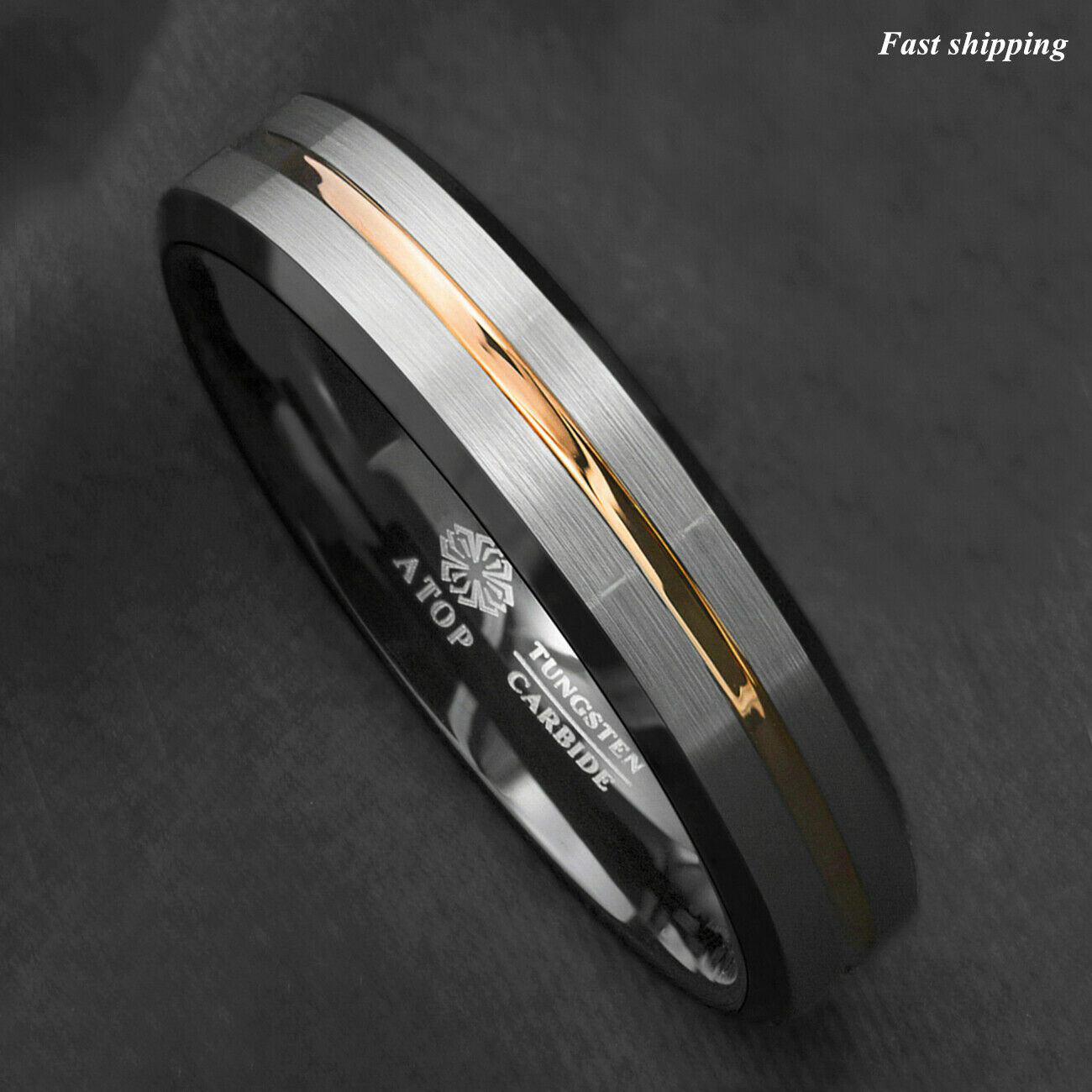 Titanium Sterling Silver Inlay Flat 6mm Brushed Band Size 7 Length Width 6
