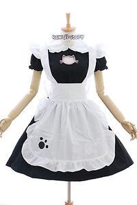 Jl Robe Lolita Noir 635 Chat Maid Maid Neko Cosplay Costume Chat r0rqzwaf