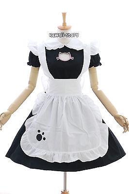 JL-635 Neko Cat black Maid Maid Lolita Dress Costume Cosplay