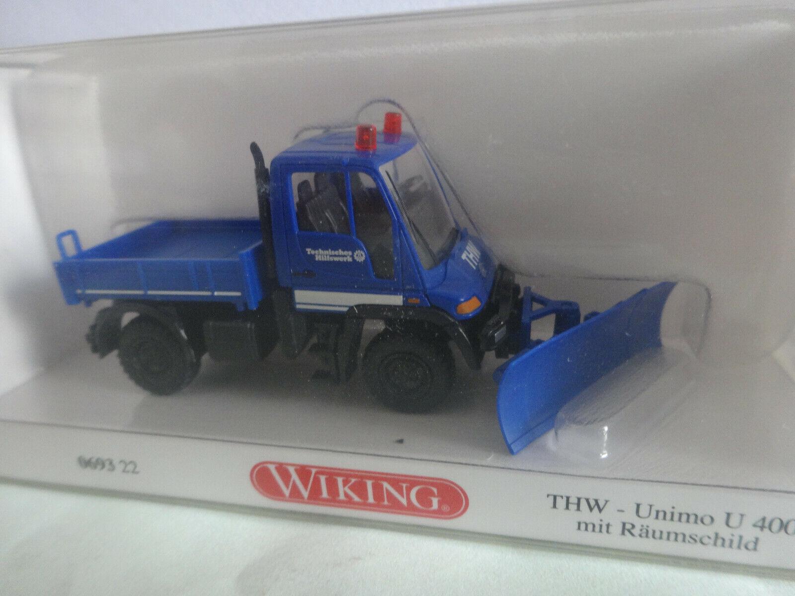 Tiefladehängerzug Wiking 069326-1//87 Thw Neu
