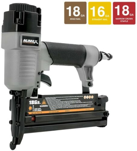 3-in-1 Nailer and Stapler with 18-Gauge Brads and Staples 16-Gauge Finish Nails
