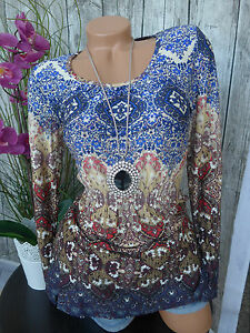boysens-Mesh-Blouse-Shirt-Size-36-54-Patterned-065-NEW