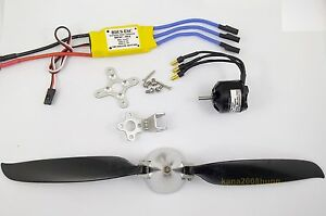 KGPM108-1-set-BL-Motor-30A-ESC-amp-Folding-Prop-10x-8-for-mini-RC-Powered-Glider
