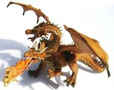 2 HEADED FIRE BREATHING FANTASY GOLD GOLDEN DRAGON BY PAPO - BRAND NEW WITH TAGS