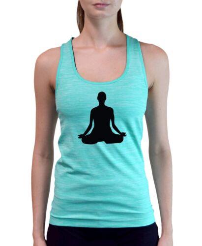 New Junior/'s Buddha Space Dye Mint Tank Top Hindu Peace Buddhist Yoga Peace V300