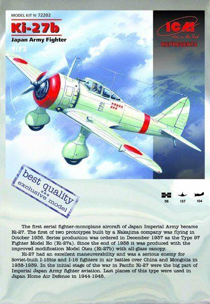 ICM Nakajima Ki-27b Japan Army Fighter 1:72 Bausatz Art 72202 Aircraft Flugzeug