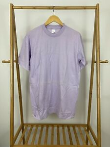 VTG-Blank-Violet-Short-Sleeve-Single-Stitch-T-Shirt-Size-L