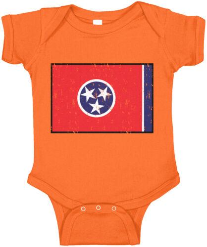Tennessee Flag State Pride The Volunteer State Nashville Trip  Infant Bodysuit