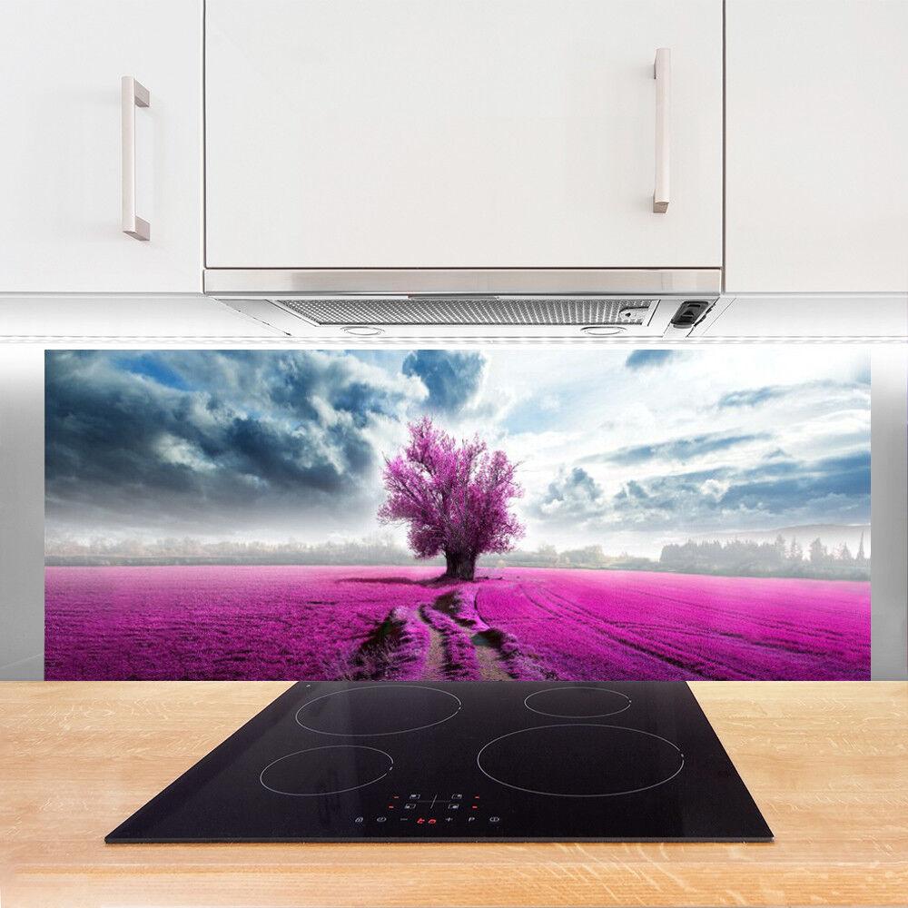 Crédence de cuisine cuisine cuisine en verre Panneau 125x50 Nature ...