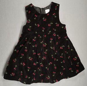 4b4541e5f0ad GYMBOREE 18-24 MONTH BABY GIRL BLACK CHERRY VELVET LIKE JUMPER DRESS ...
