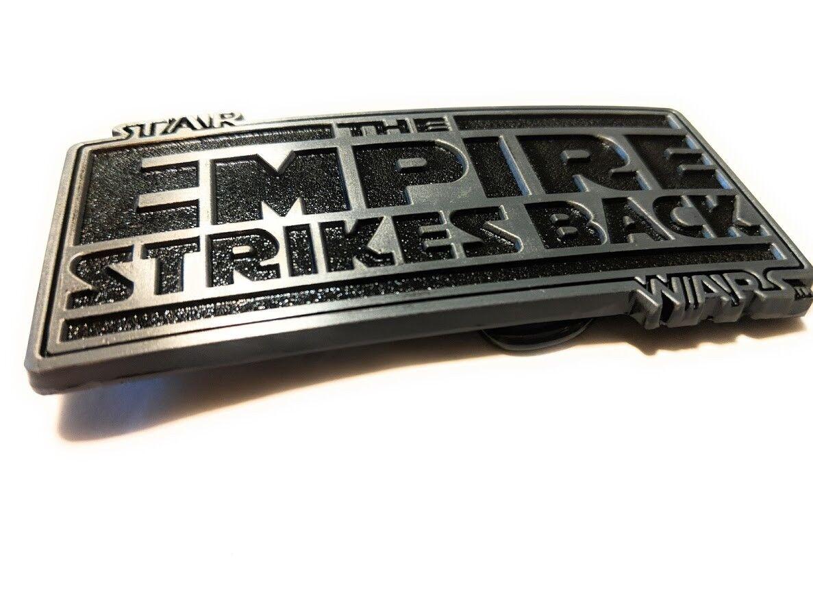 Original STAR WARS metal logo belt buckle Red enamel color  Cosplay or just wear