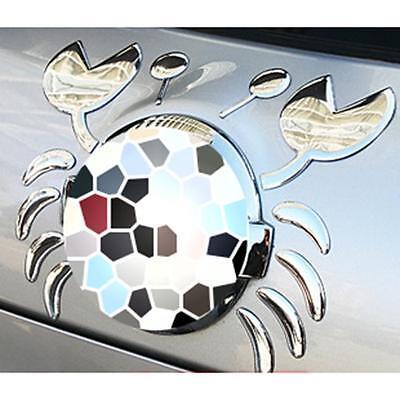 Waterproof 3D Chrome Cute Crab Car Emblem Decal Sticker Automobile Logo Sticker