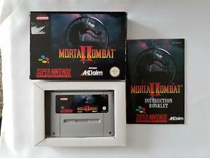 Mortal-Kombat-II-2-Super-Nintendo-SNES-Spiel-PAL-EUR-CIB