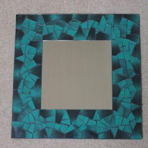 Details Zu Superb Hand Gefertigt Mosaik Spiegel Mit Dunkel Grun Color 40x40 Cm Breit