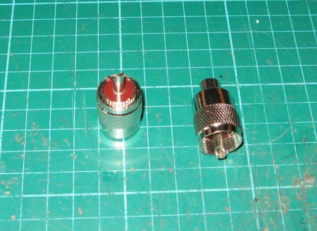 THE PL259 RG58//U SCREW SOLDER ON PLUG BROWN INSERTS TEN  NEW  HAM RADIO USE 6MM