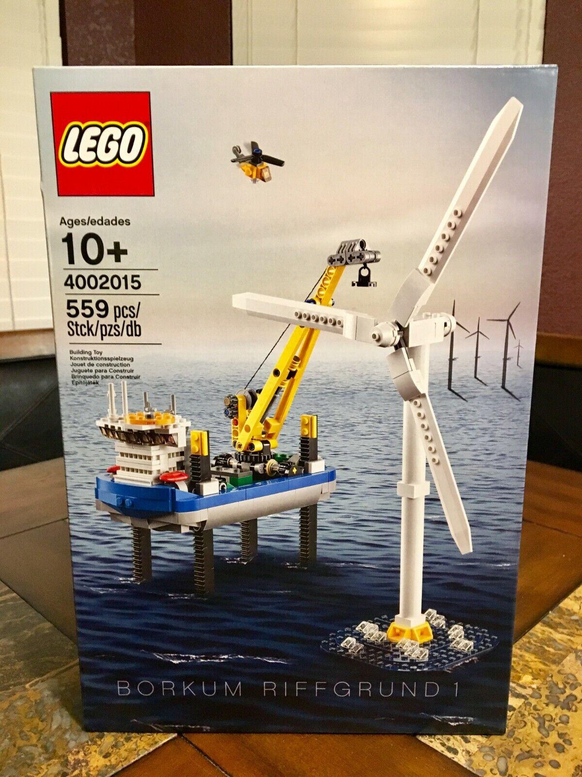 LEGO  BORKUM RIFFGcorrereD 1 WIND TURBINE 4002015 BOAT nuovo XMAS EMPLOYEE GIVE AWAY   presa