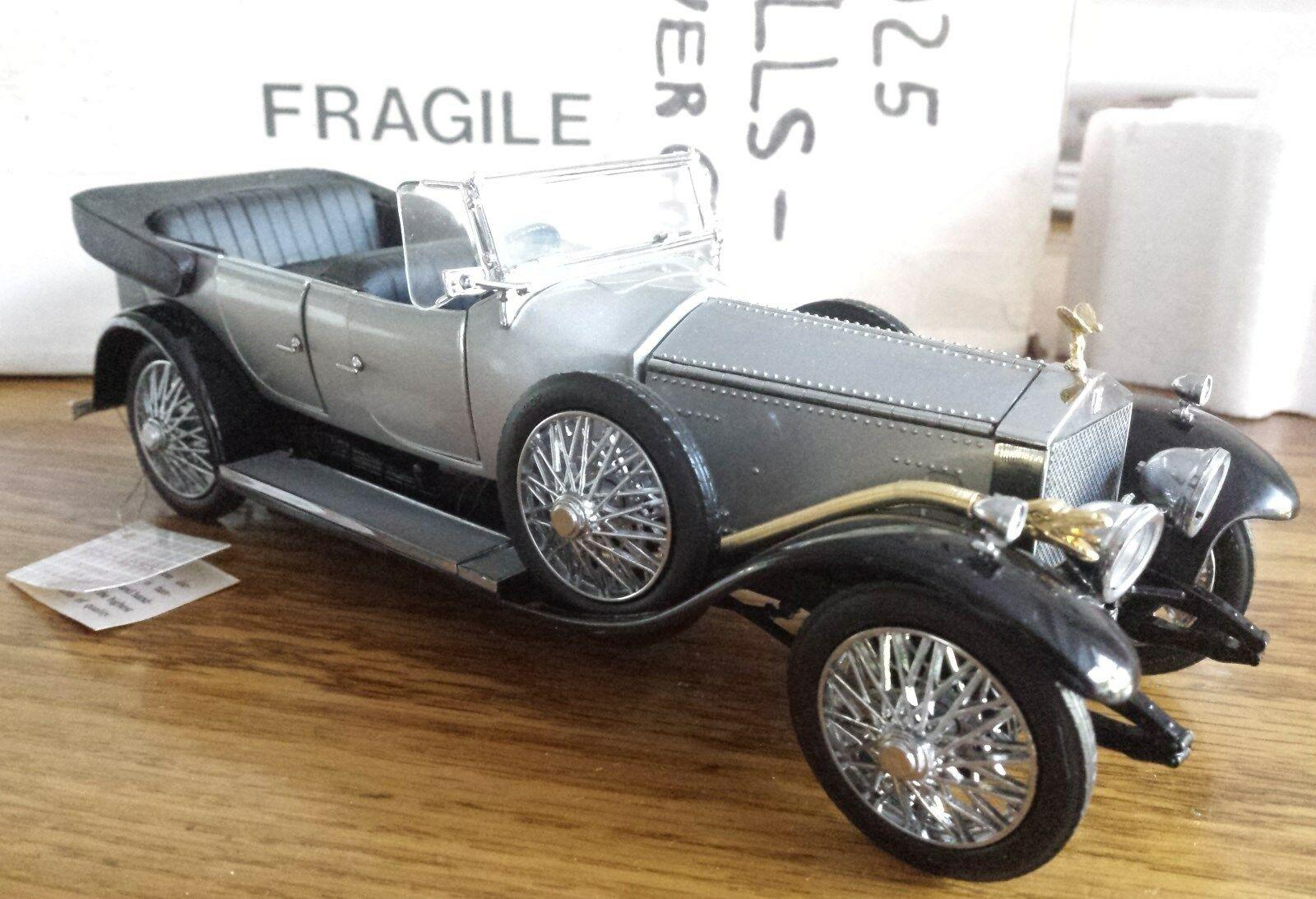 Rolls Royce 1925 plata fantasma Franklin Mint 1 24 Scale Die Cast A20