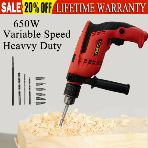 Rotary Hammer Drill Corded Electric 240V Heavy Duty VARIABLE SPEED 9pcs Bit Set