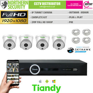 2MP-Poe-Camera-IP-CCTV-Plug-amp-Play-Exterieur-Nuit-Kit-Home-Securite-Systeme-Lite