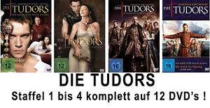 12 DVDs * TUDORS - STAFFEL / SEASON 1 - 4 KOMPLETT IM SET # NEU OVP <