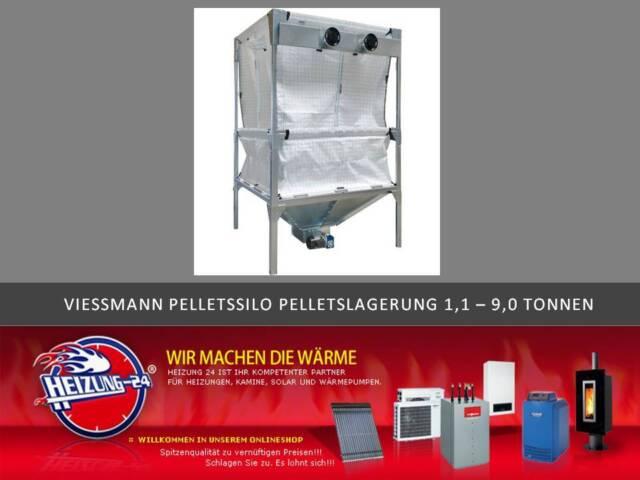 Viessmann Pelletssilo Silo Pelletslagerung von 1,1 - 9,0 Tonnen