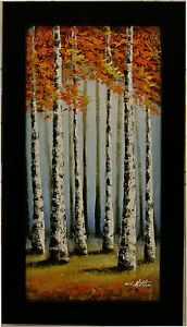 Abstract Landscape Painting Trees