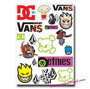 A4 Sheet - Sticker Mix Vinyl Stickers Stickerbomb Surf Surfer ...