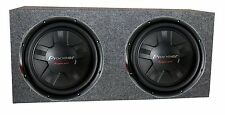 2) Pioneer TS-W311S4 12 Inch 2800W Car SVC Subwoofers + Sealed Enclosure Box