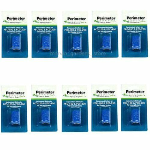 10 EACH PERIMETER PTPRB-003 RECEIVER COLLAR REPLACEMENT BATTERY