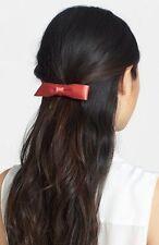NEW L. Erickson USA 'Bermuda Bow' Silk Charmeuse Barrette in Sunset ($46 Retail)