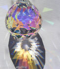 Sweet! ASFOUR Aurora Borealis CRYSTAL faceted 30MM AB PRISM ball Suncatcher!