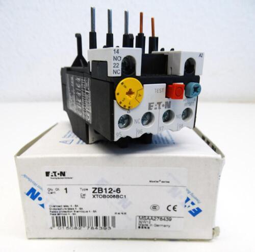 Eaton Moeller ZB12-6 ZB126 4-6A Motorschutzrelais unused//OVP