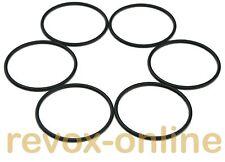 6 Gummiringe, O-Ringe für NAB-Adapter der Marken Revox, darklab, BASF usw.