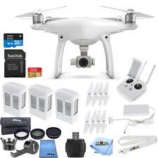 DJI Phantom 4 Quadcopter W/ 3 Batteries + Lens Filter Kit + 32GB Sandisk + More
