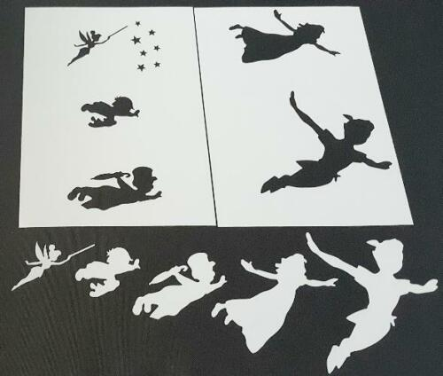 5pcs Characters Stencils Inspired by Disney Peter Pan Wendy John Michael Tinker
