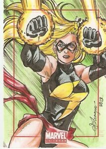 2014-Marvel-Universe-Captain-Marvel-Sketch-Card-By-Gemma-Magno