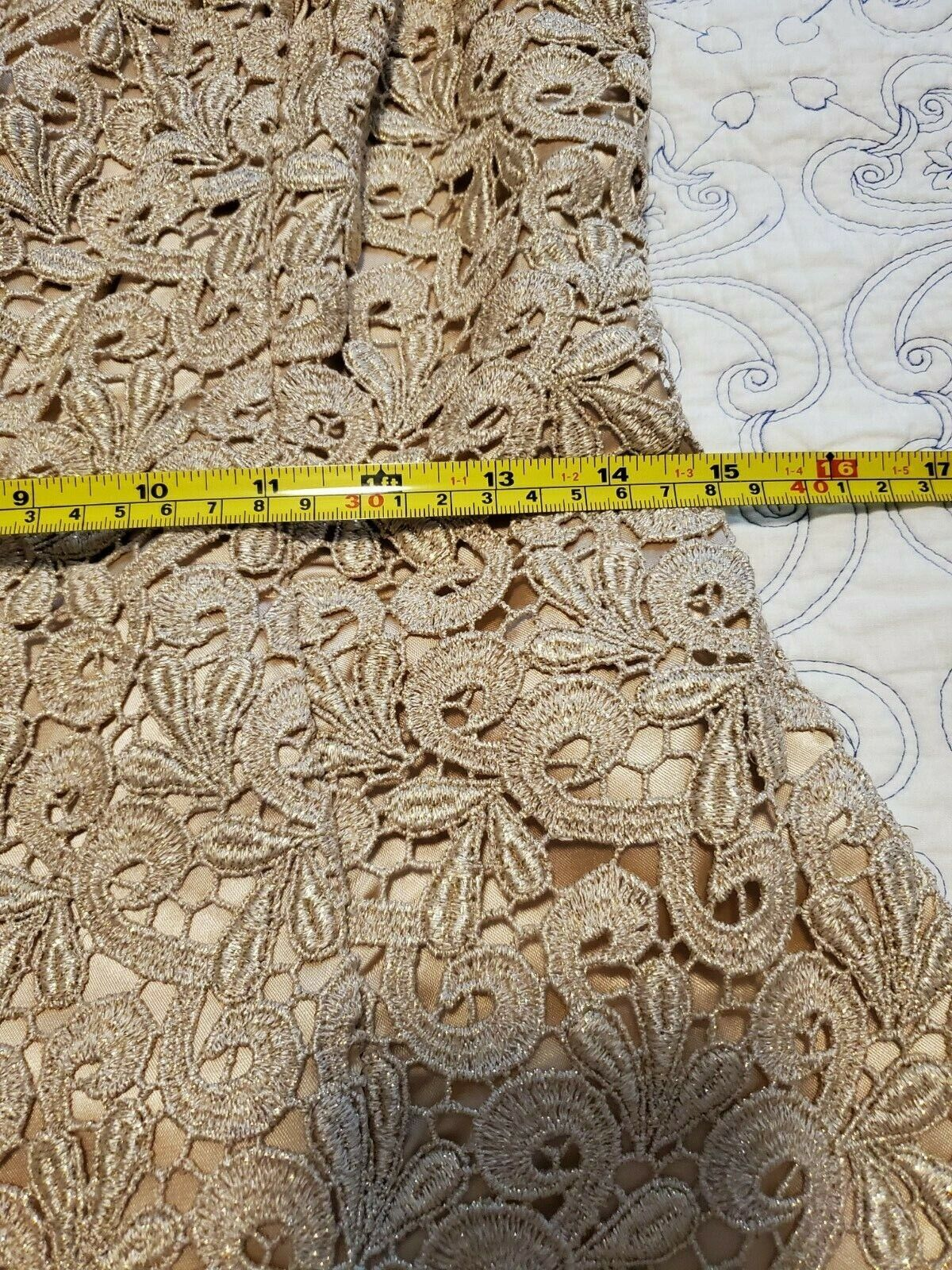 jessica mcclintock Dress Womens Size 8 Gold with … - image 4