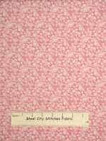 Floral Flowers Coral Pink Cotton Fabric South Sea Illuminating Spring Yard