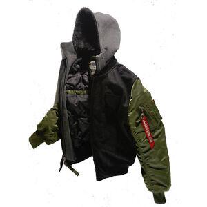 Alpha Industries MA-1 D-TEC lana giacca da pilota BOMBER UOMO ... 672550a59b0