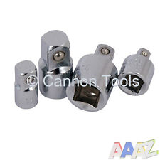 "4pc 1/4"" to 3/8"" to 1/2"" Socket Adaptor Reducer Converter Set Step Up Down Tool"