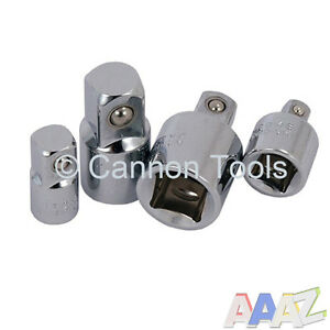 4pc-1-4-034-to-3-8-034-to-1-2-034-Socket-Adaptor-Reducer-Converter-Set-Step-Up-Down-Tool