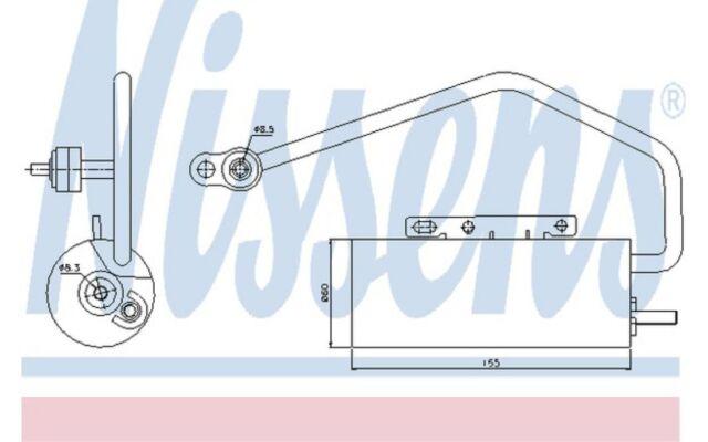 NISSENS Filtro deshidratante, aire acondicionado MERCEDES-BENZ CLASE E 95447