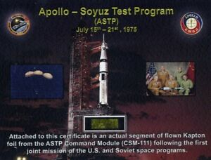 Apollo-Soyuz-Flown-in-Space-Piece-of-Gold-Kapton-Foil-From-the-Command-Module