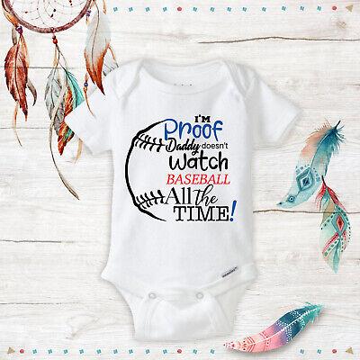 I/'m Watching Game Dad Daddy Custom Baby Unisex Shower Onesie Newborn Bodysuit