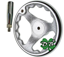 6 All Metal Milling Lathe Machine Hand Wheel Chrome Clad Rotating Handle