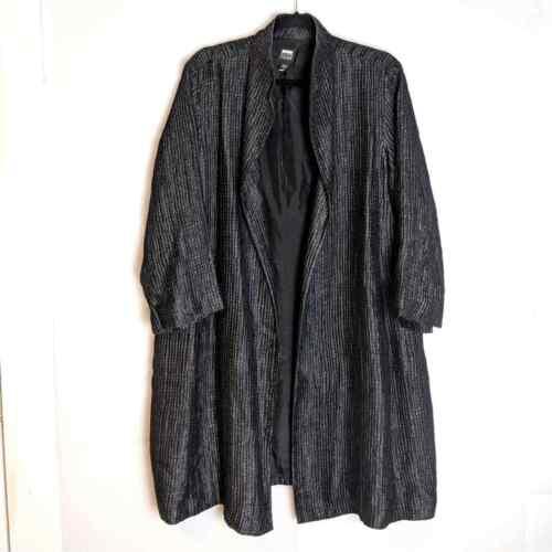 Eileen Fisher Silk Textured Jacket Lagenlook L