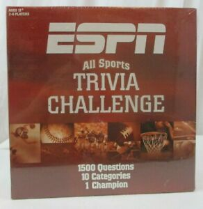 Espn Trivia Game All Sports Trivia Challenge 1500 Questions Brand New Ebay