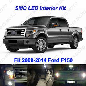 15 X White Led Interior Backup Fog License Plate Lights For 2009 2014 Ford F150 Ebay